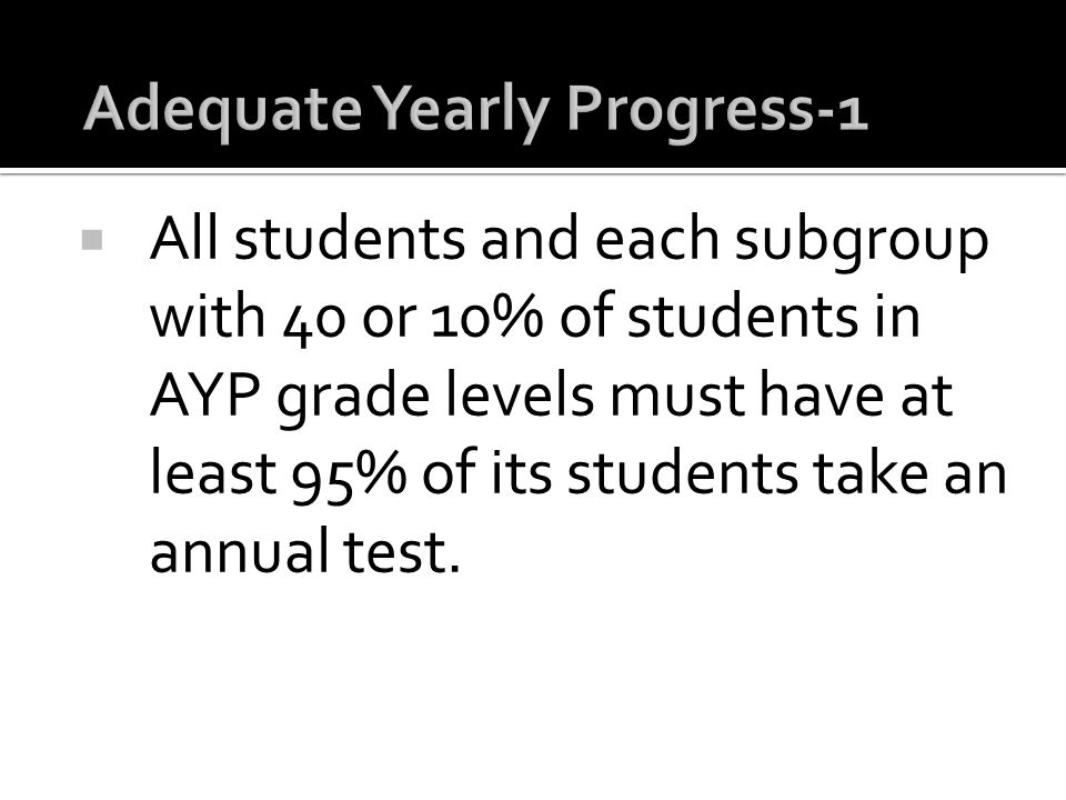 Adequate Yearly Progress-1