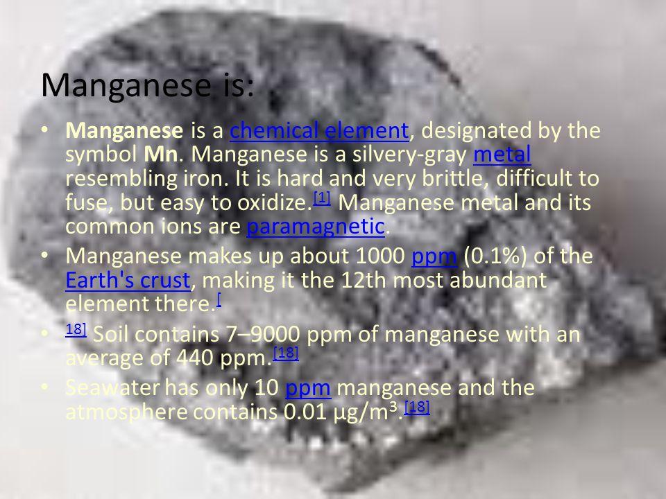 Manganese is: