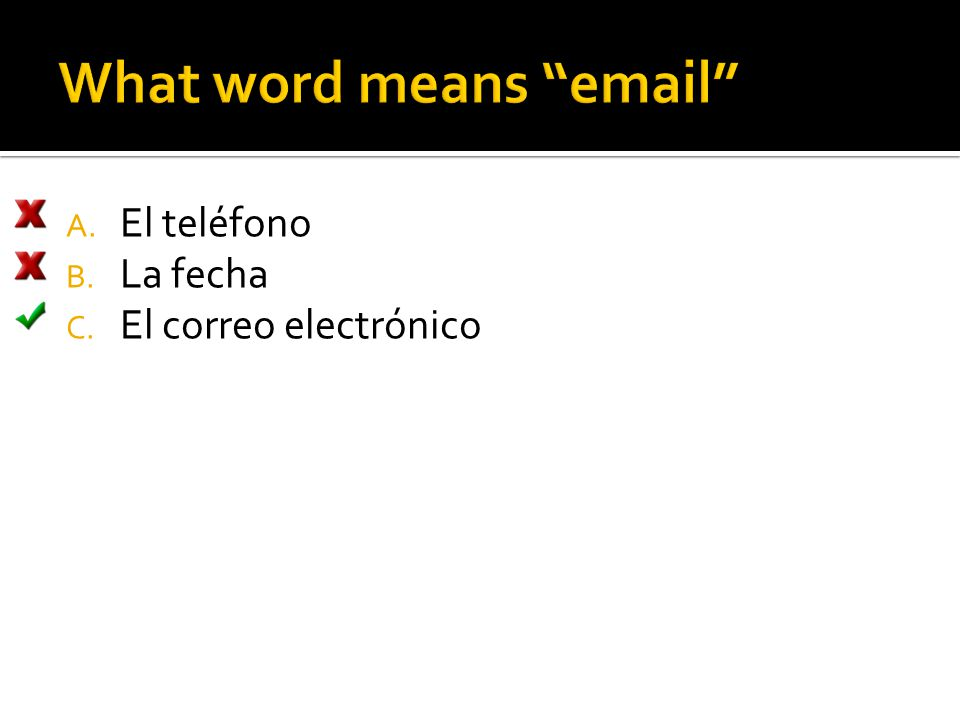 What word means email