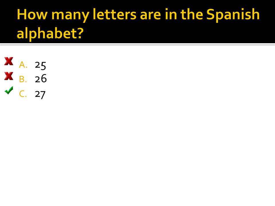 How many letters are in the Spanish alphabet