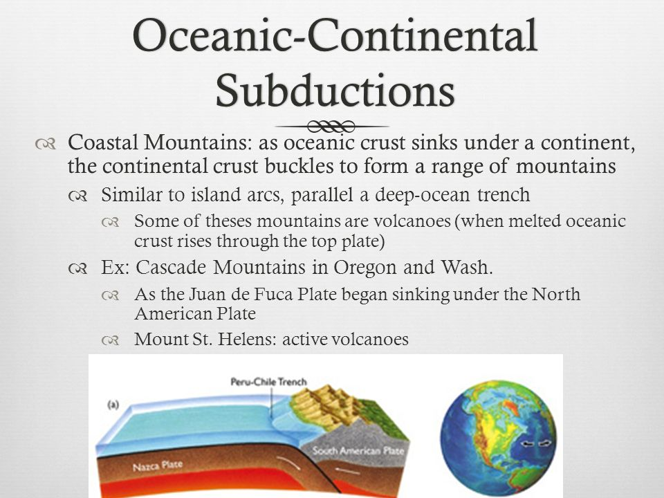 Oceanic-Continental Subductions