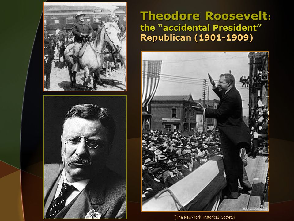 Theodore Roosevelt: the accidental President Republican (1901-1909)
