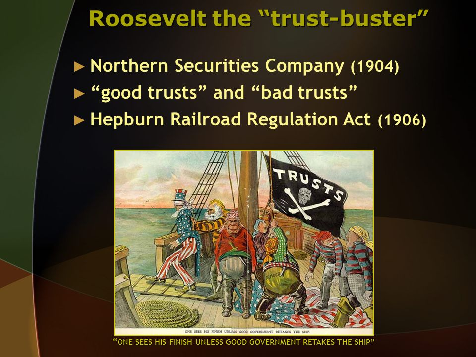 Roosevelt the trust-buster