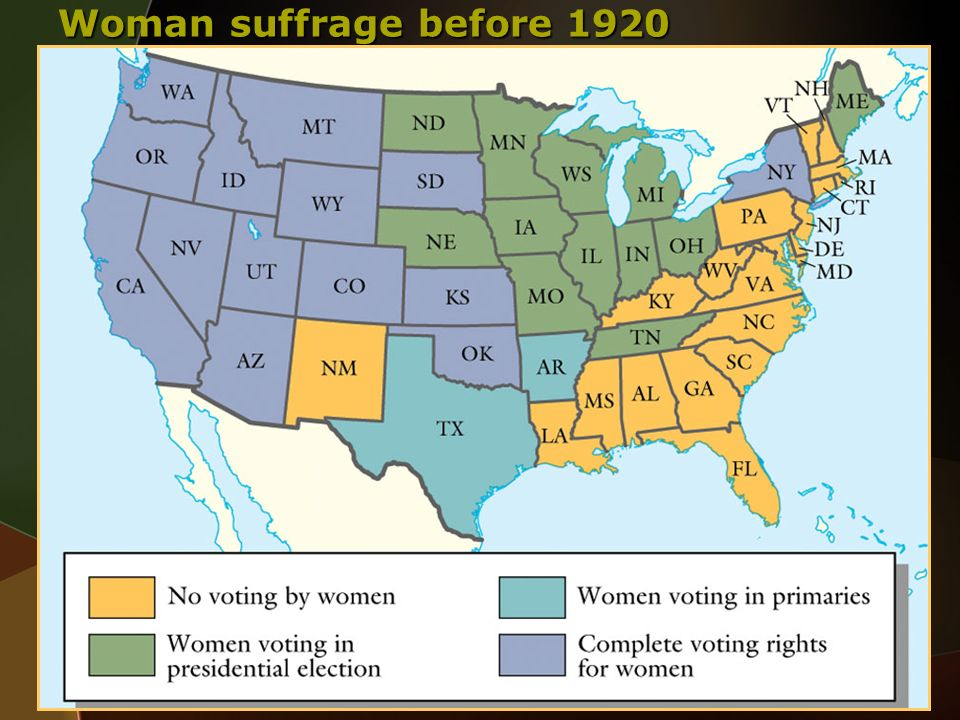 Woman suffrage before 1920 Thomson Wadsworth Wadsworth.com