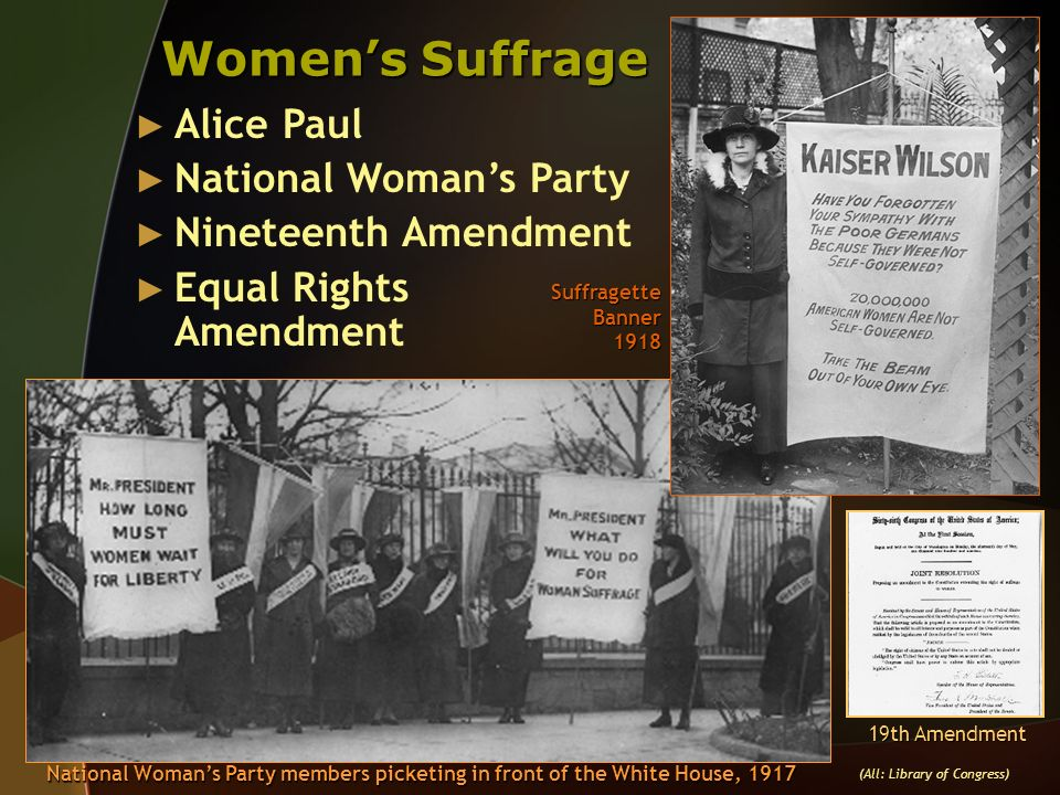 Women's Suffrage Alice Paul National Woman's Party