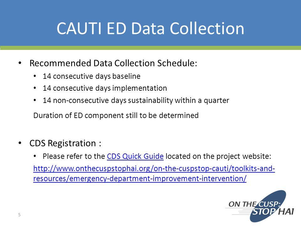 CAUTI ED Data Collection