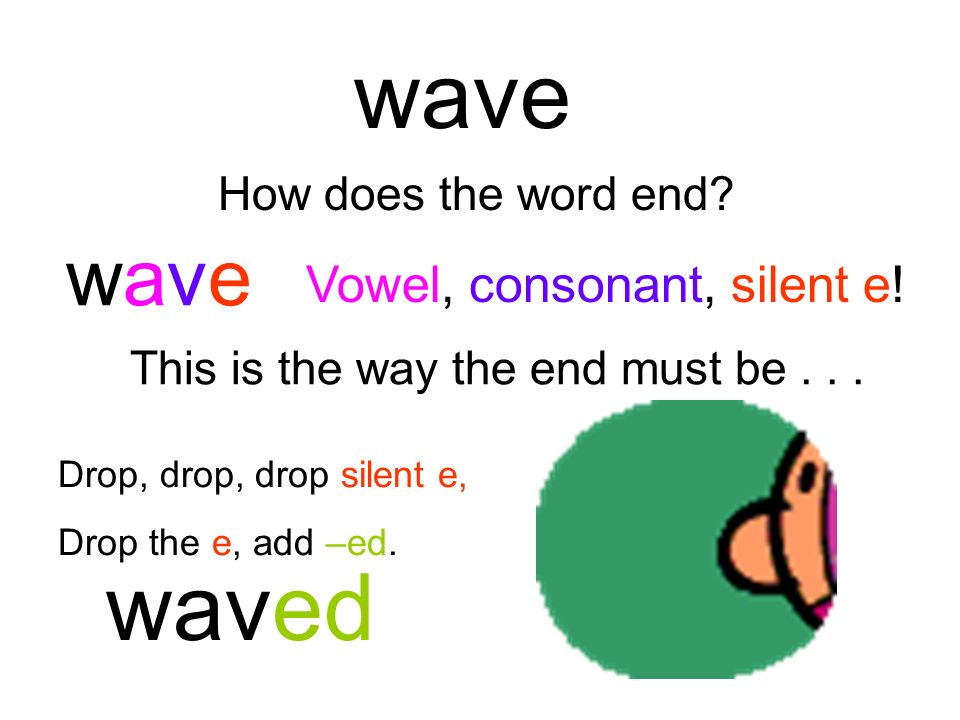 wave waved wave Vowel, consonant, silent e! How does the word end
