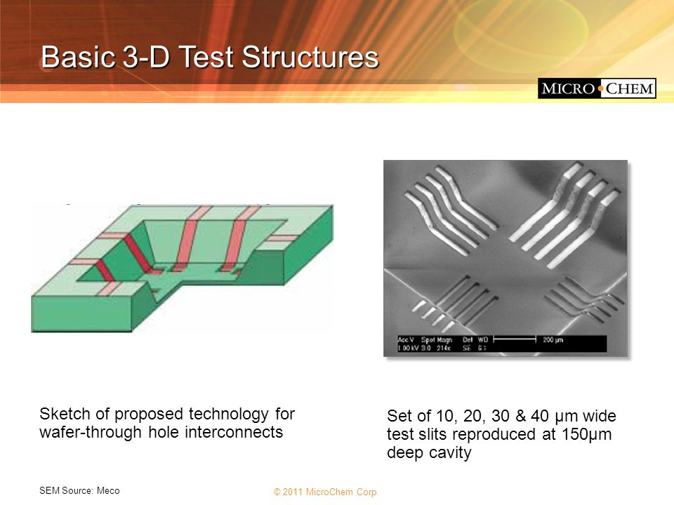 Basic 3-D Test Structures