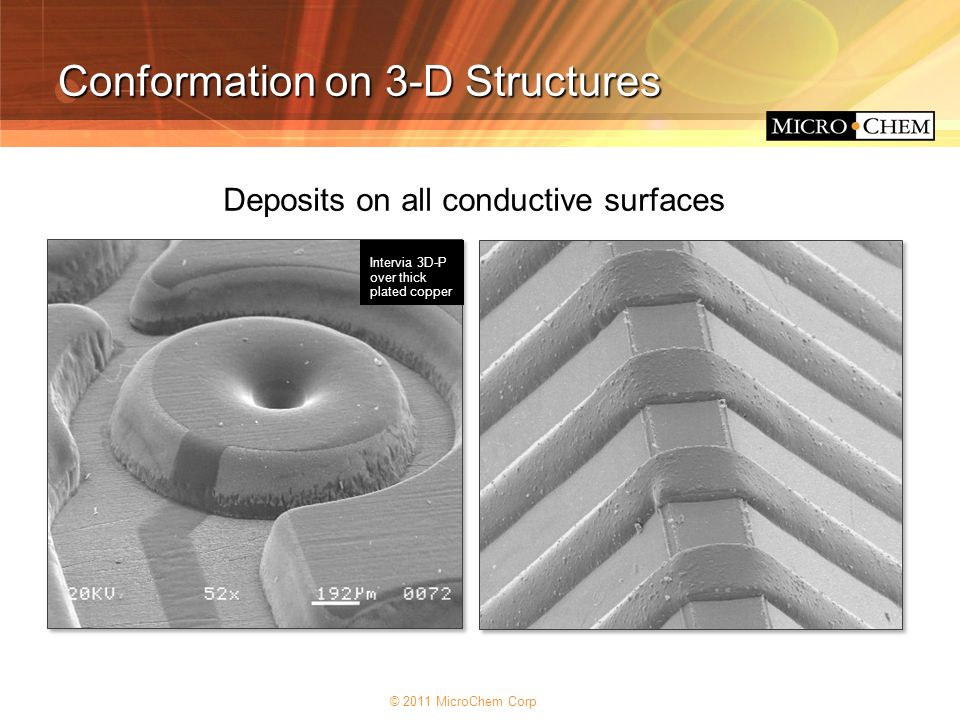 Deposits on all conductive surfaces