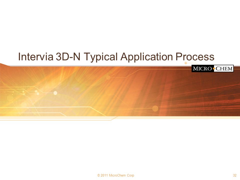 Intervia 3D-N Typical Application Process