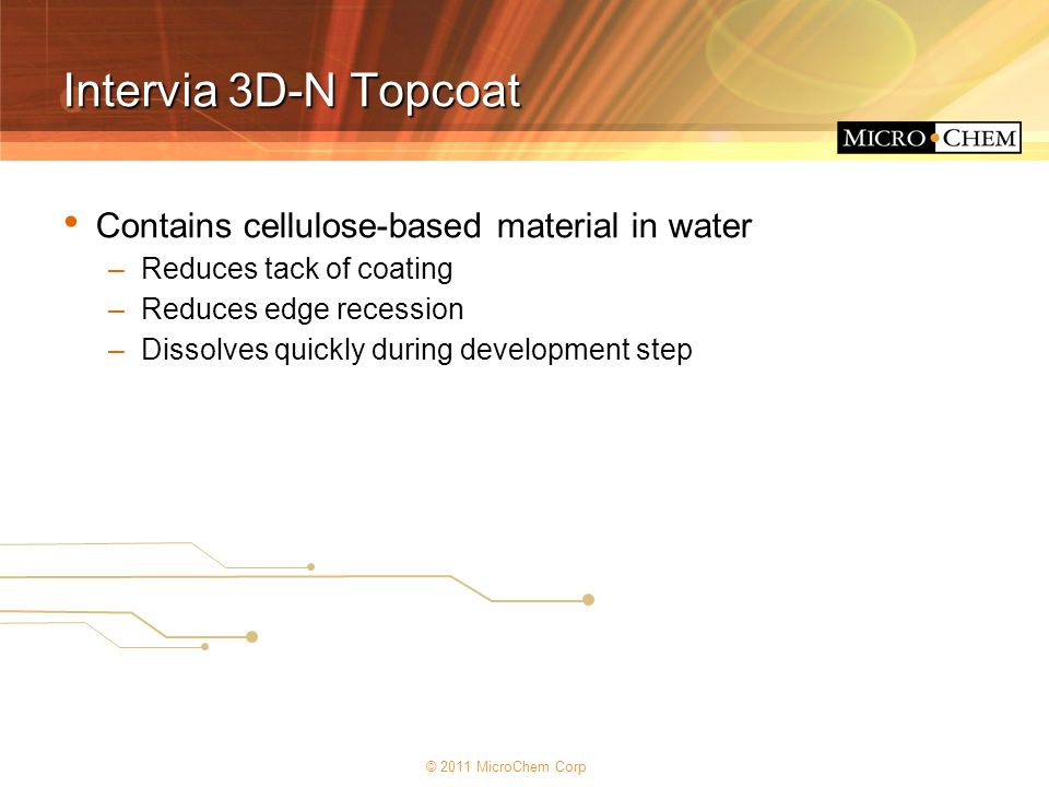 Intervia 3D-N Topcoat Contains cellulose-based material in water