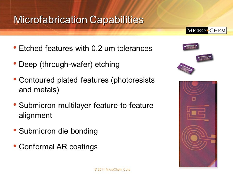 Microfabrication Capabilities