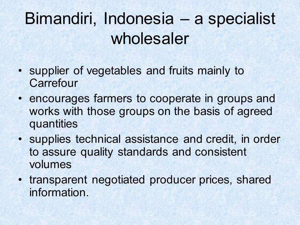 Bimandiri, Indonesia – a specialist wholesaler