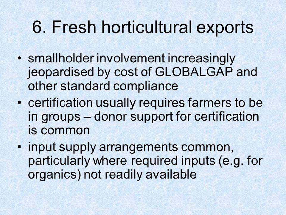 6. Fresh horticultural exports