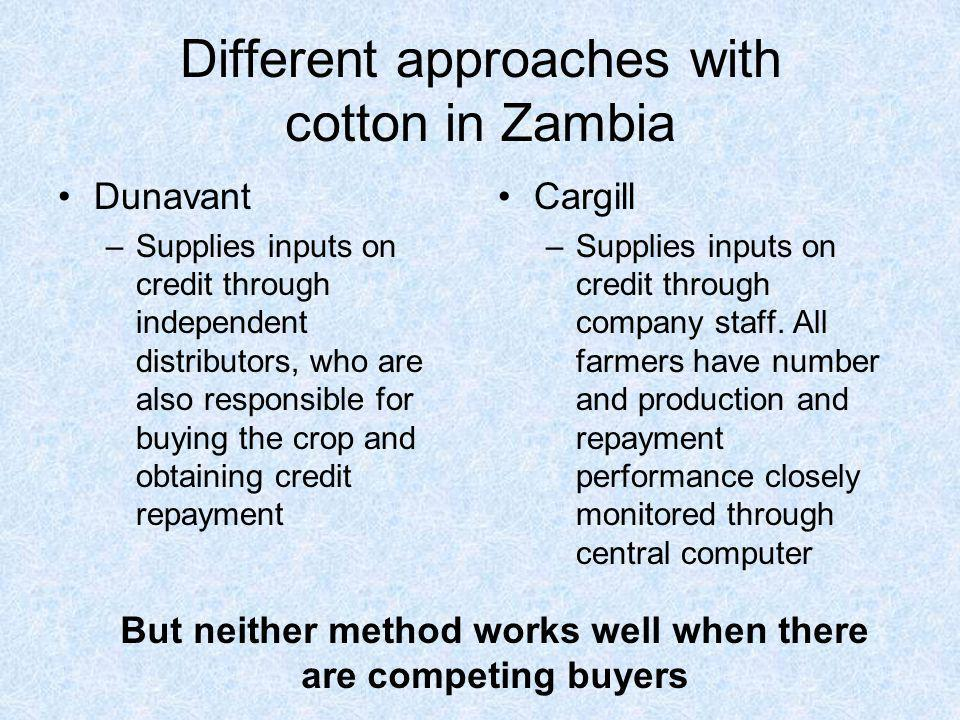 Different approaches with cotton in Zambia