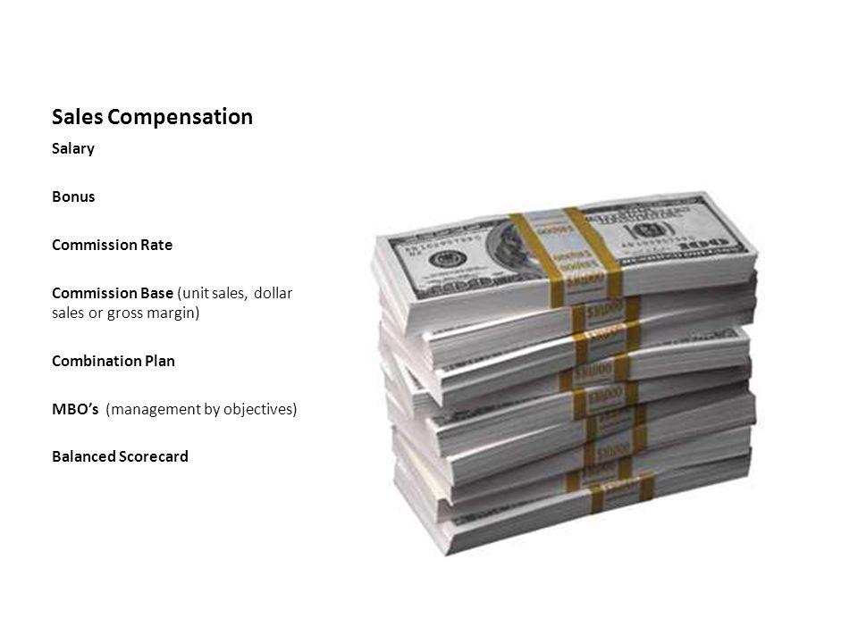 Sales Compensation Salary Bonus Commission Rate
