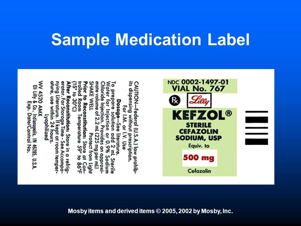 Sample Medication Label