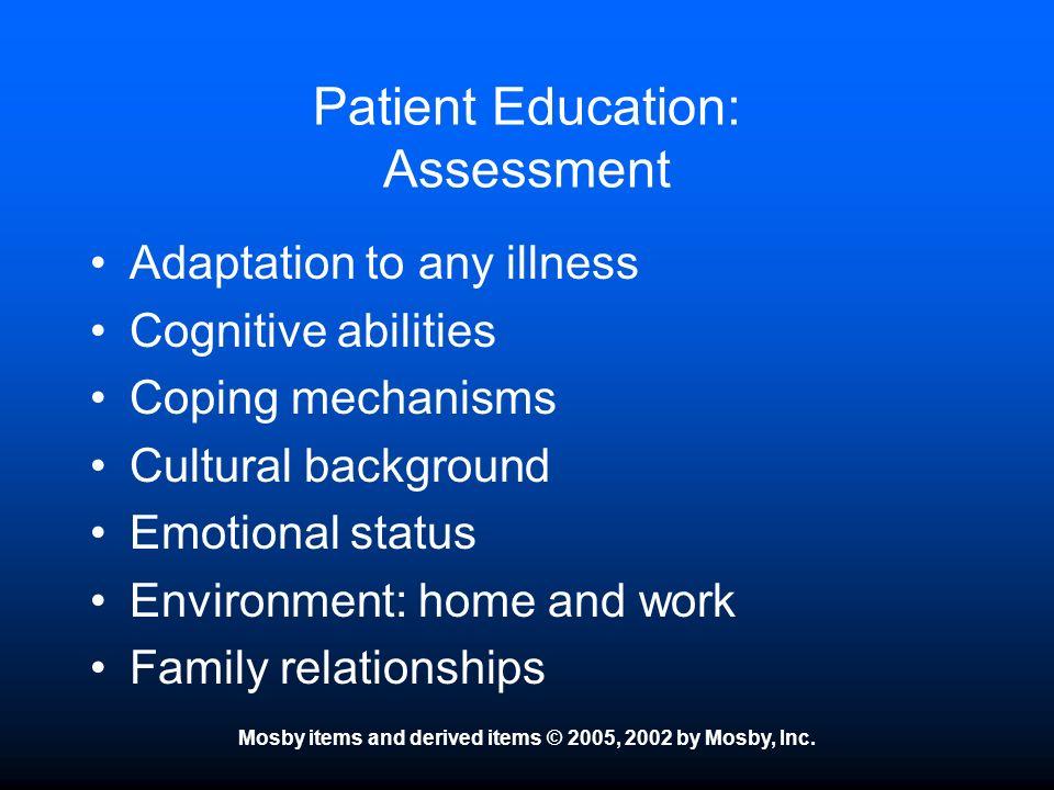 Patient Education: Assessment