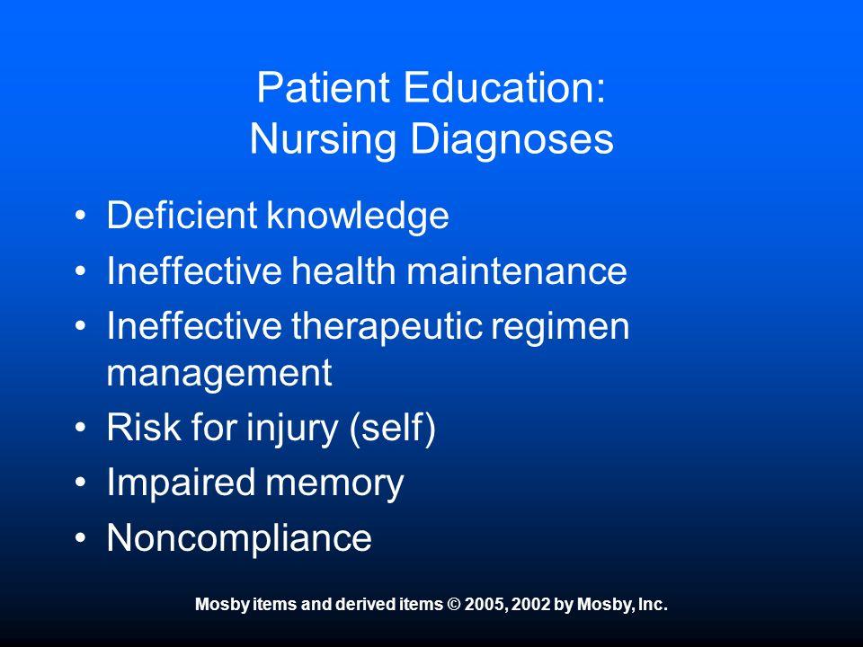 Patient Education: Nursing Diagnoses