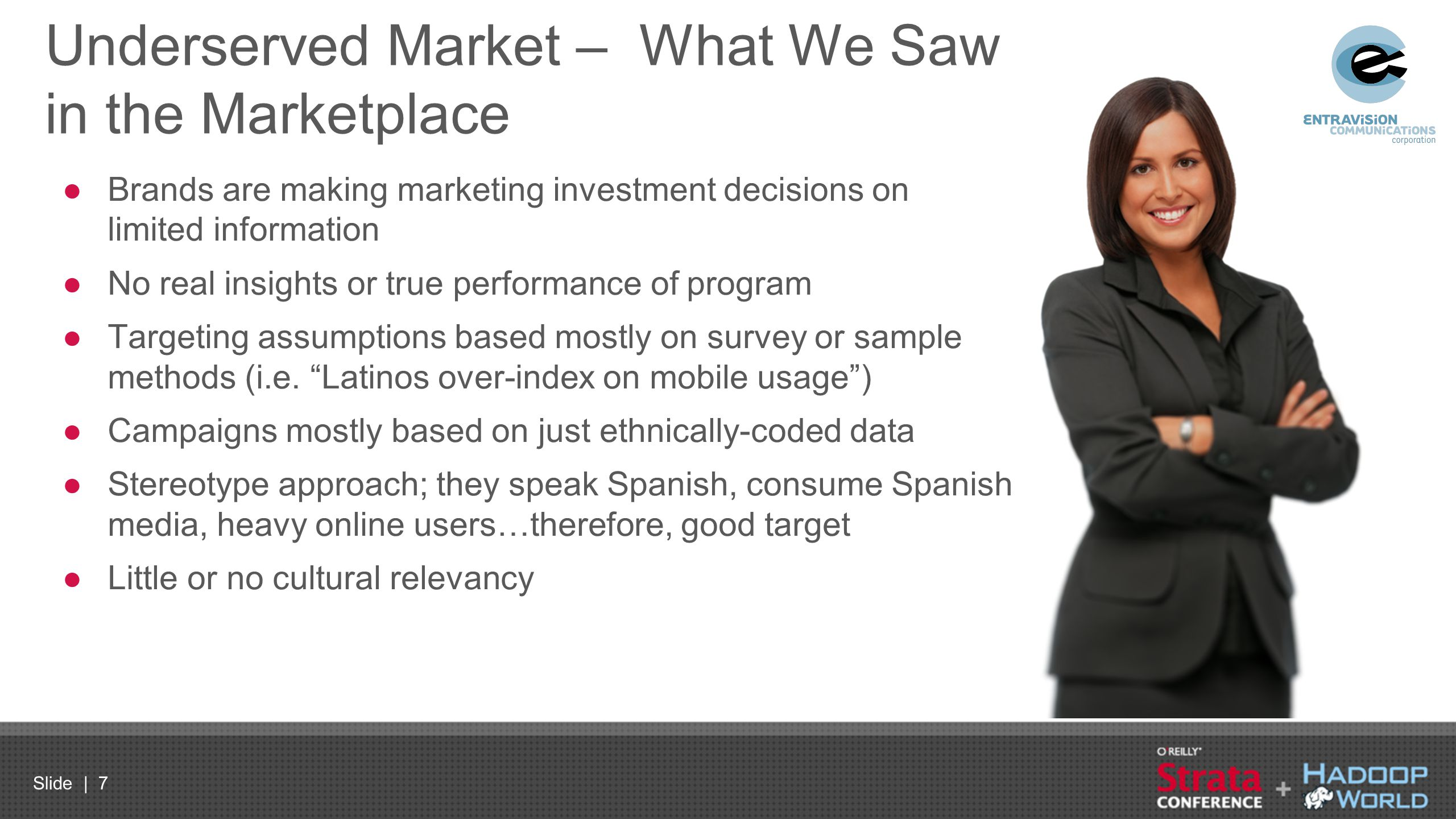 Underserved Market – What We Saw in the Marketplace