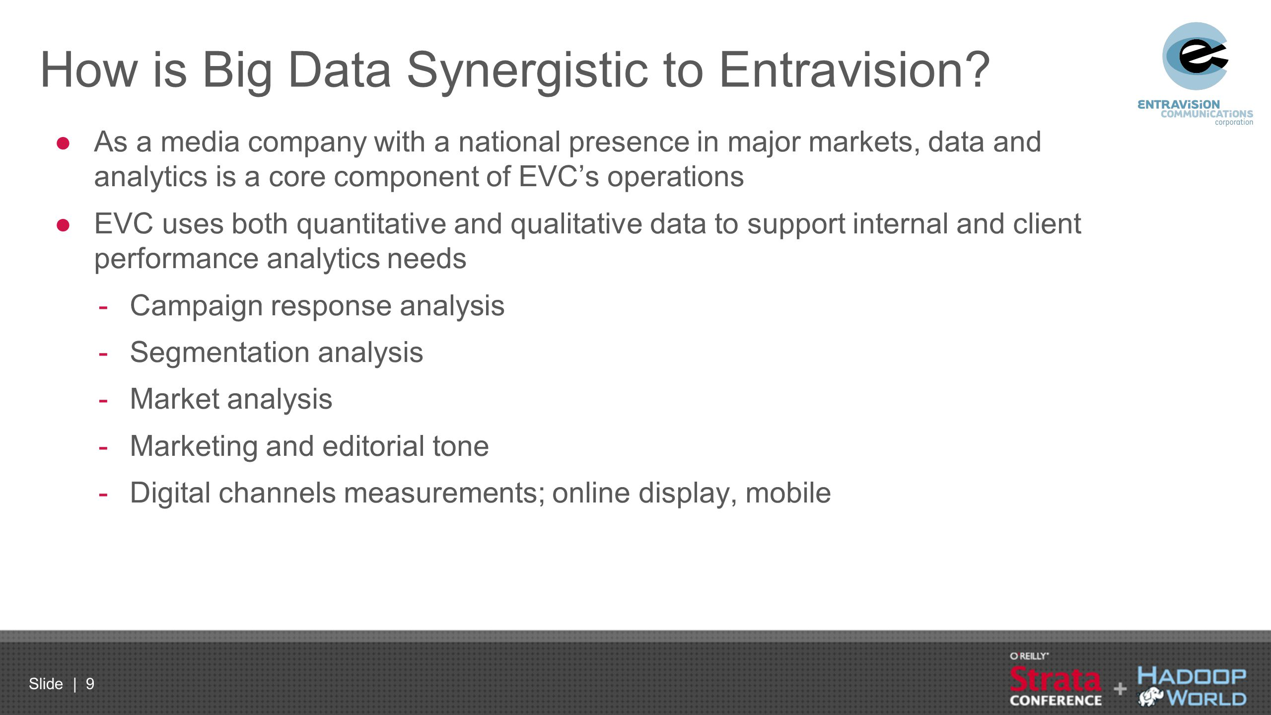 How is Big Data Synergistic to Entravision