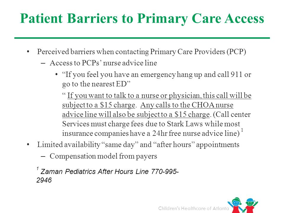 Patient Barriers to Primary Care Access