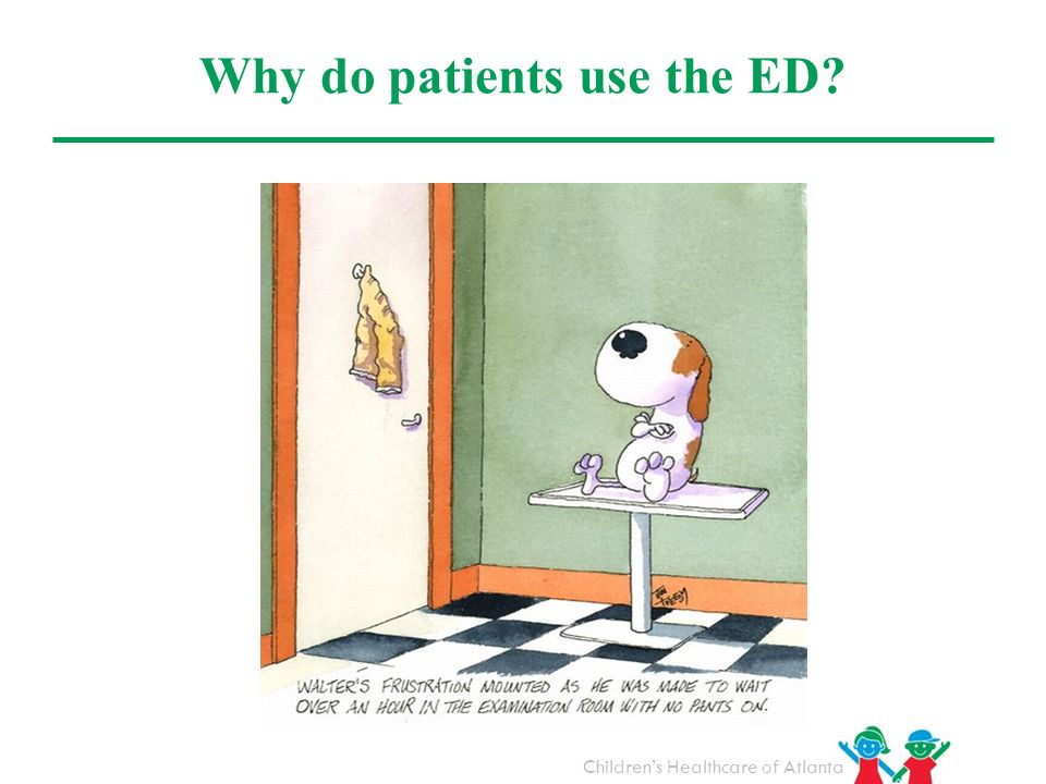 Why do patients use the ED