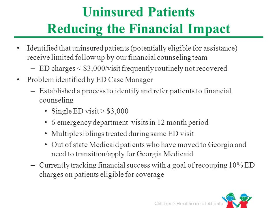 Uninsured Patients Reducing the Financial Impact