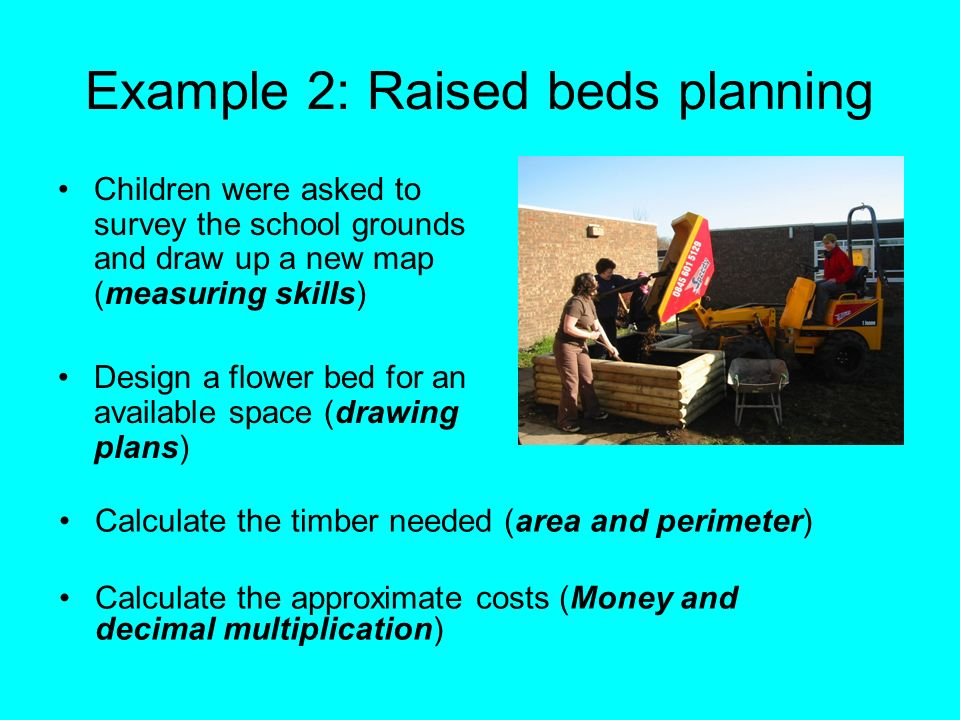 Example 2: Raised beds planning