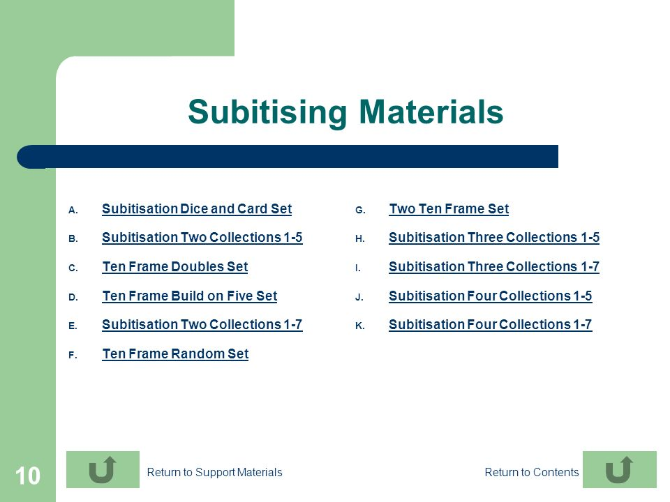 Subitising Materials Subitisation Dice and Card Set