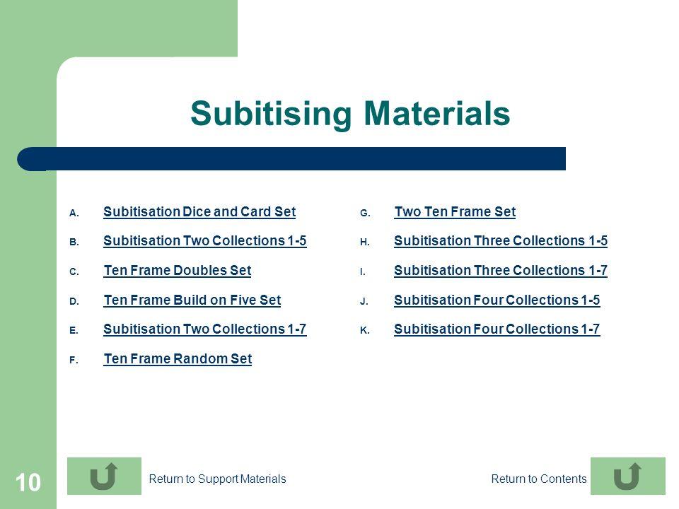 Subitising Materials Subitisation Dice and Card Set