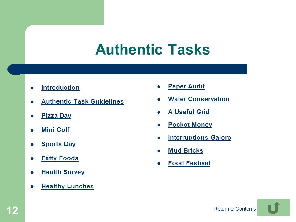 Authentic Tasks Introduction Paper Audit Water Conservation