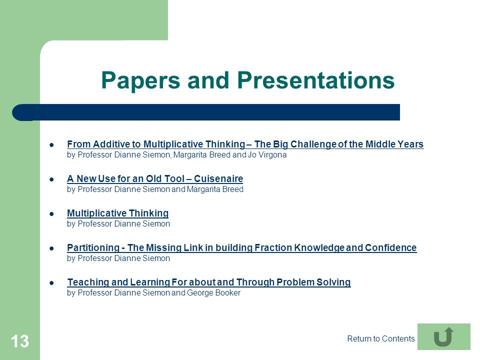 Papers and Presentations