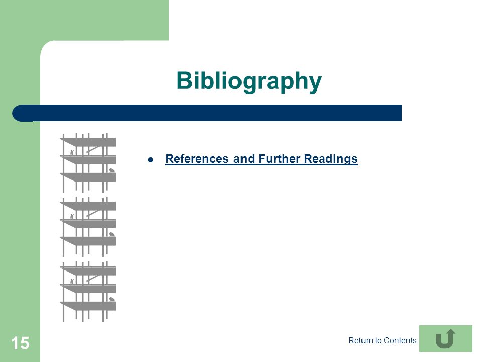 Bibliography References and Further Readings Return to Contents