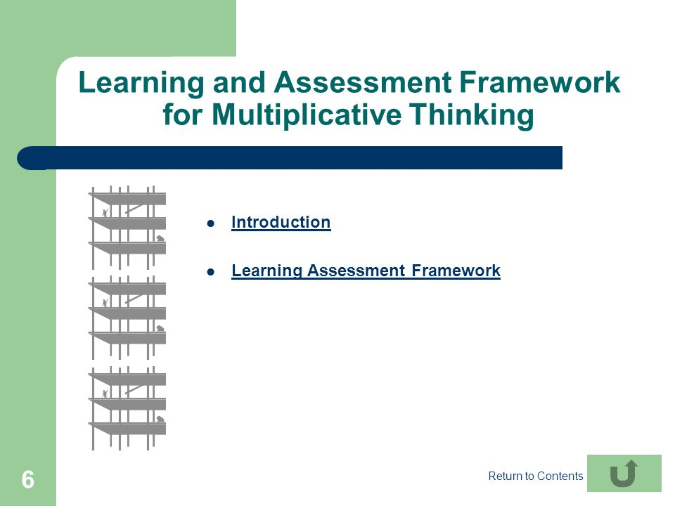 Learning and Assessment Framework for Multiplicative Thinking