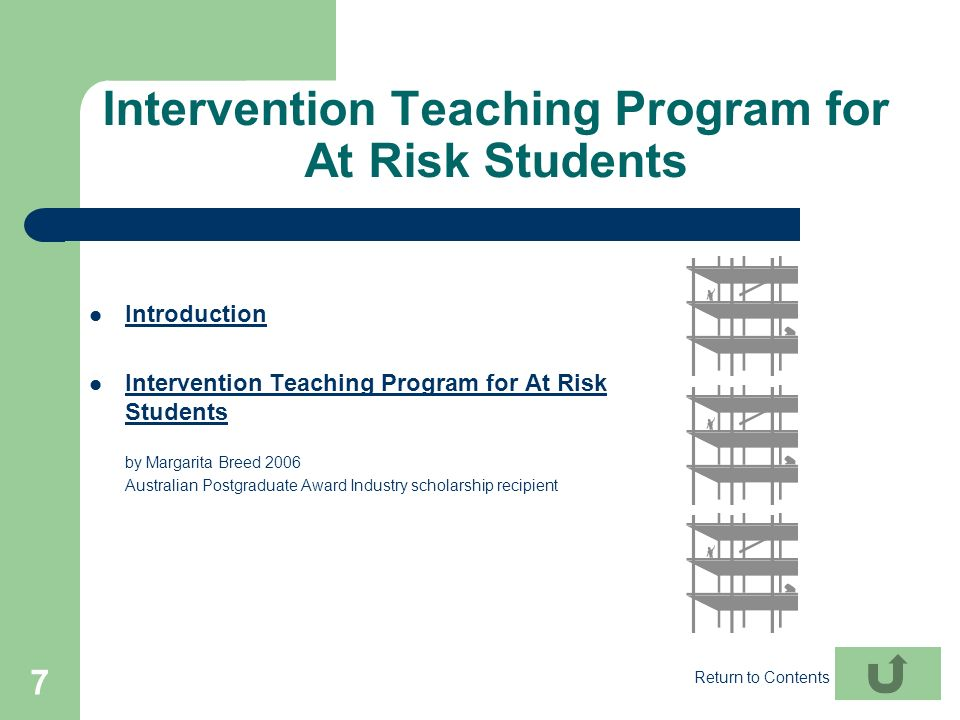 Intervention Teaching Program for At Risk Students