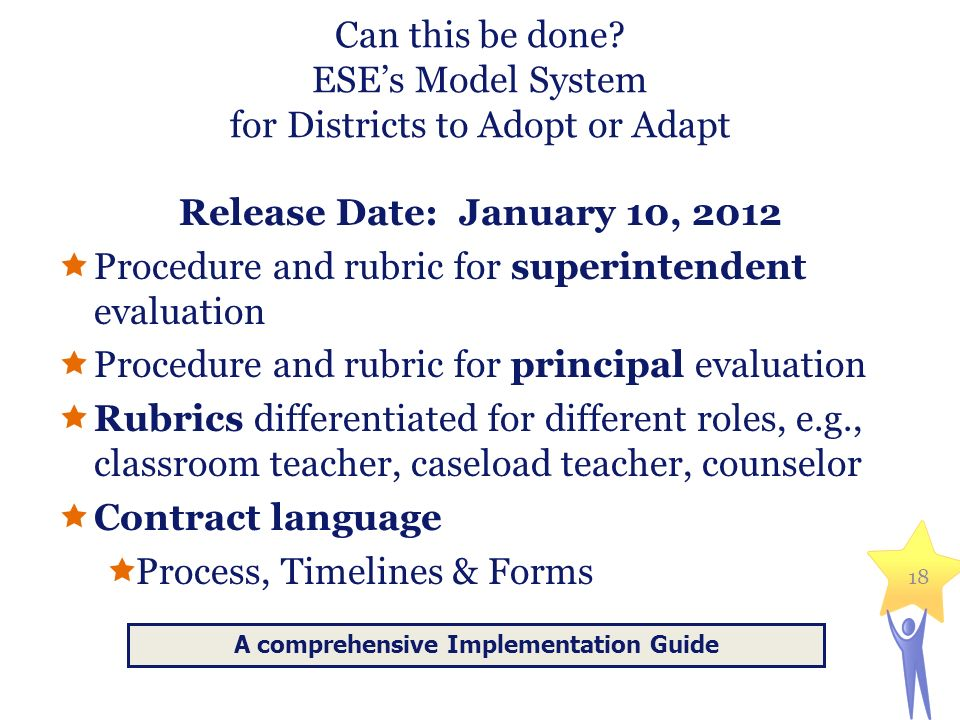 Can this be done ESE's Model System for Districts to Adopt or Adapt