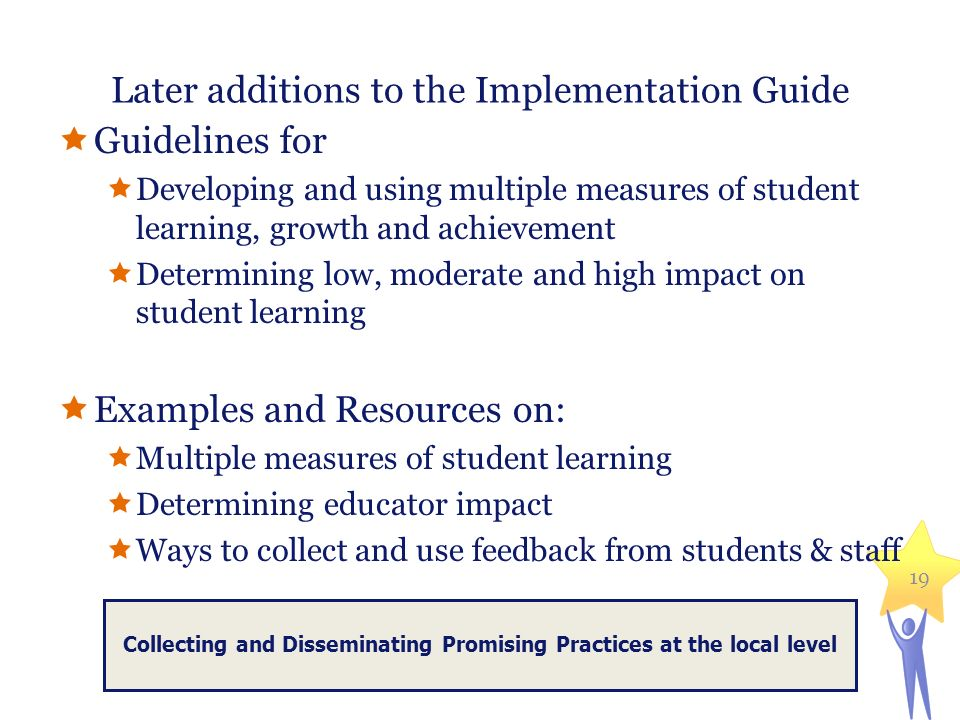 Later additions to the Implementation Guide