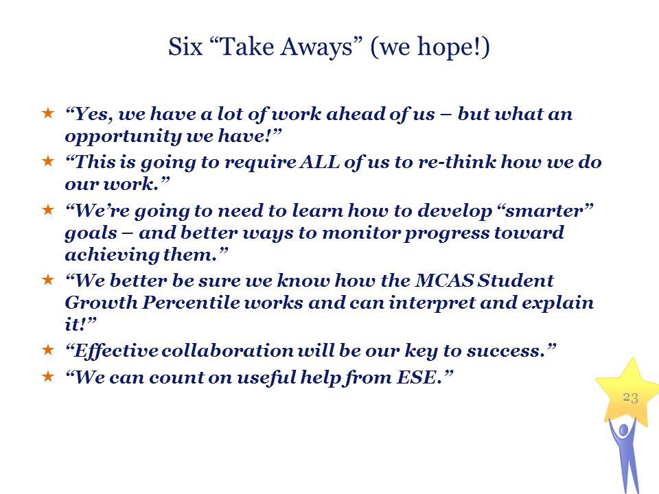 Six Take Aways (we hope!)