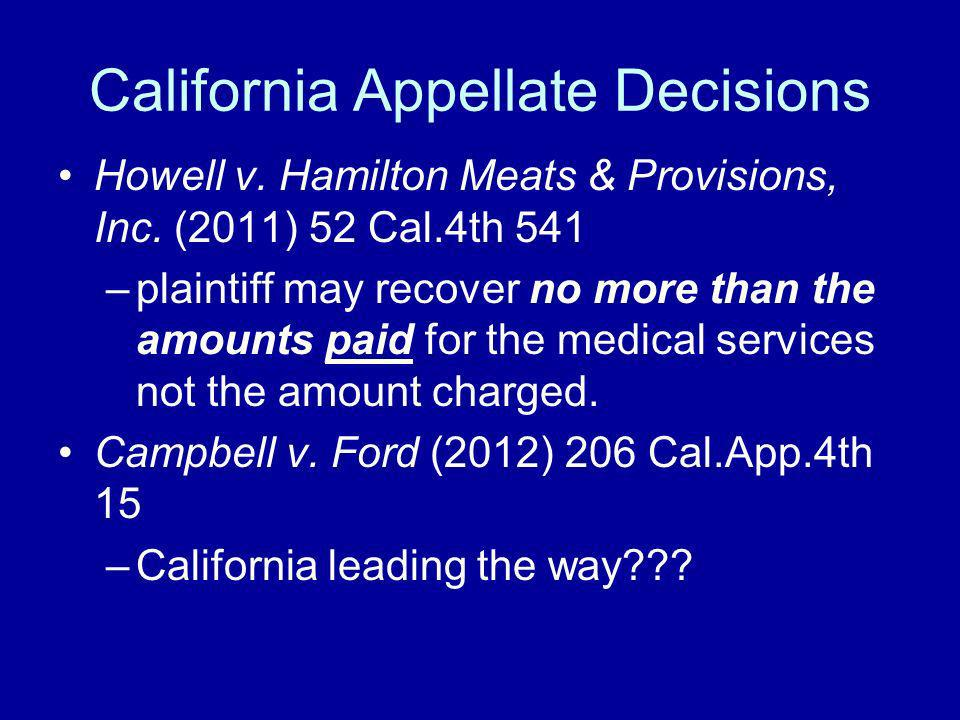 California Appellate Decisions