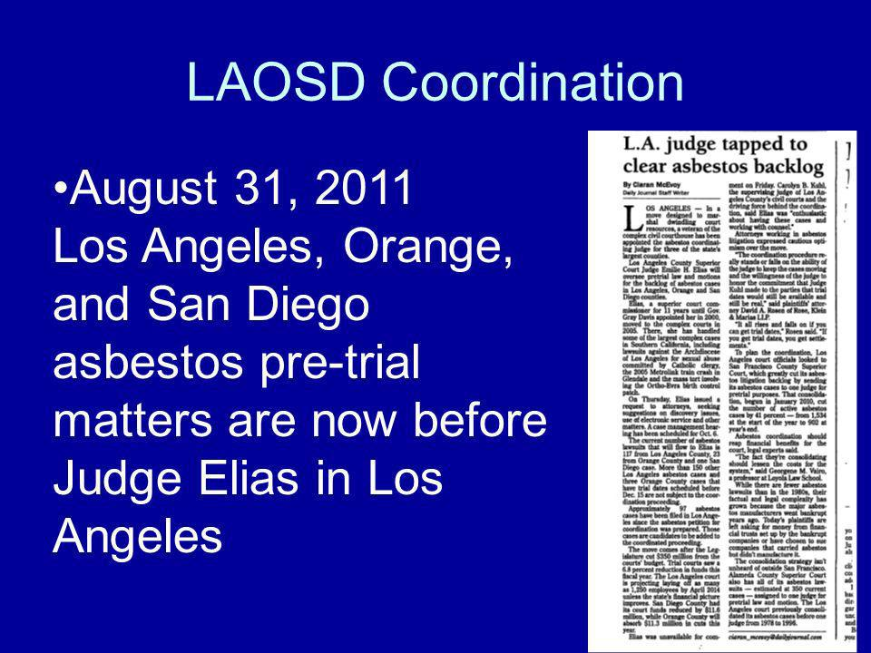 LAOSD Coordination August 31, 2011