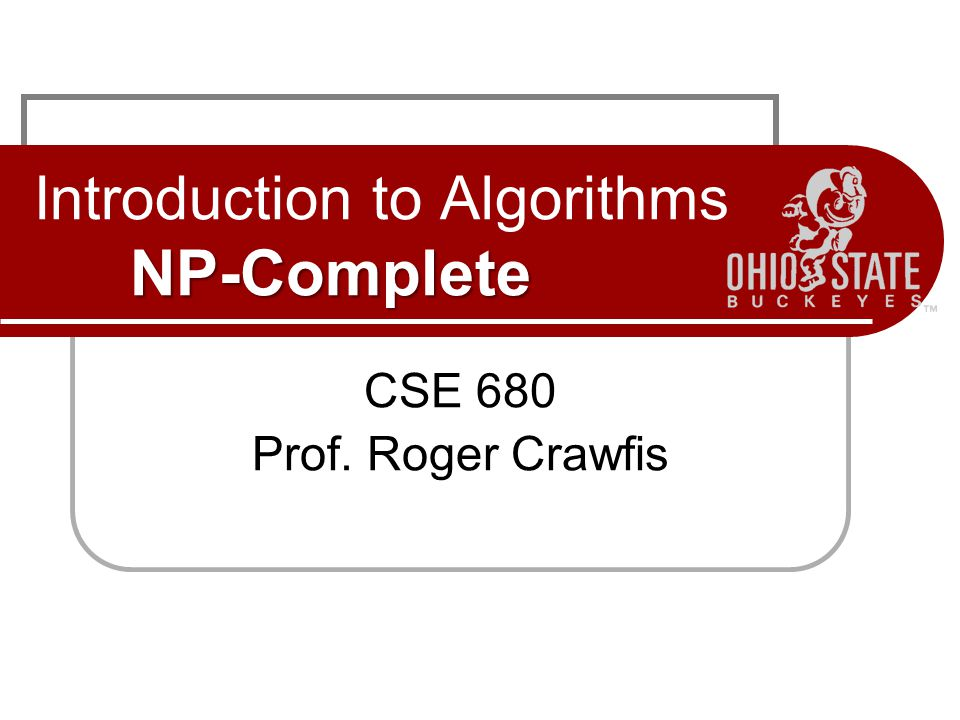 Introduction to Algorithms NP-Complete