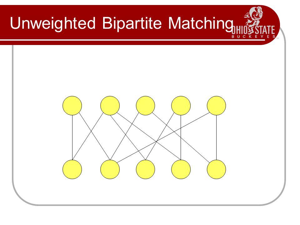 Unweighted Bipartite Matching