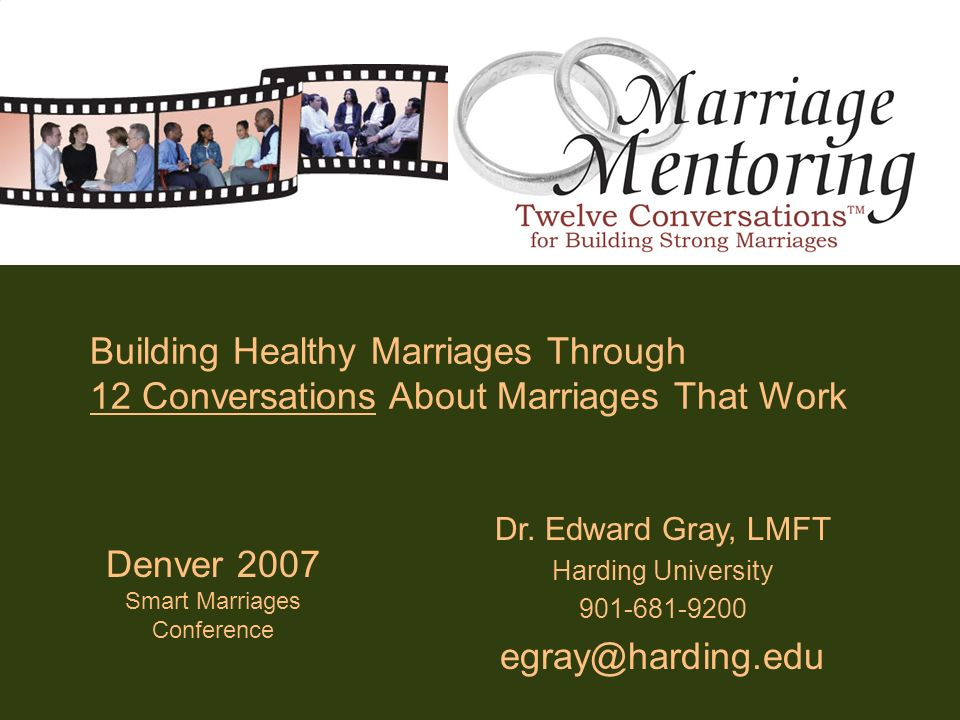 Building Healthy Marriages Through