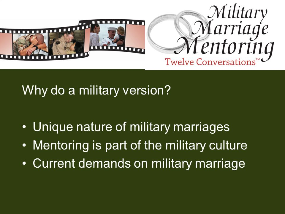 Why do a military version Unique nature of military marriages