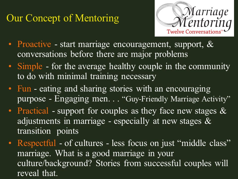 Our Concept of Mentoring