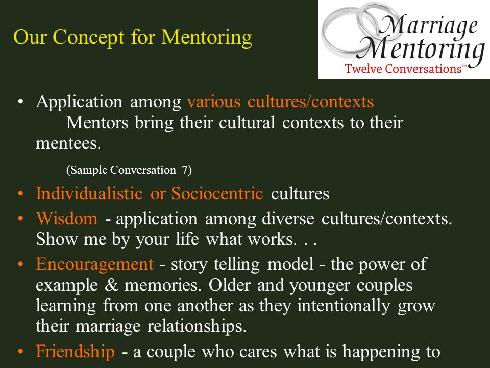 Our Concept for Mentoring