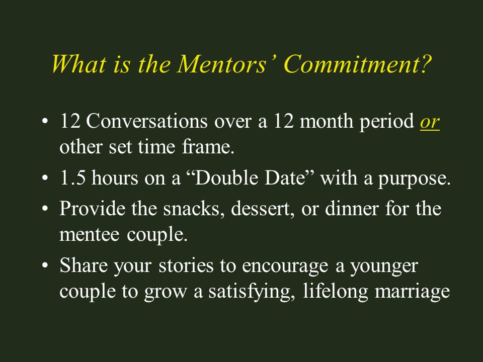What is the Mentors' Commitment