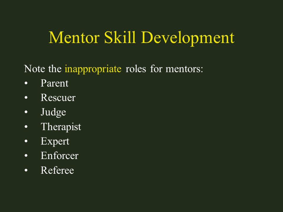 Mentor Skill Development