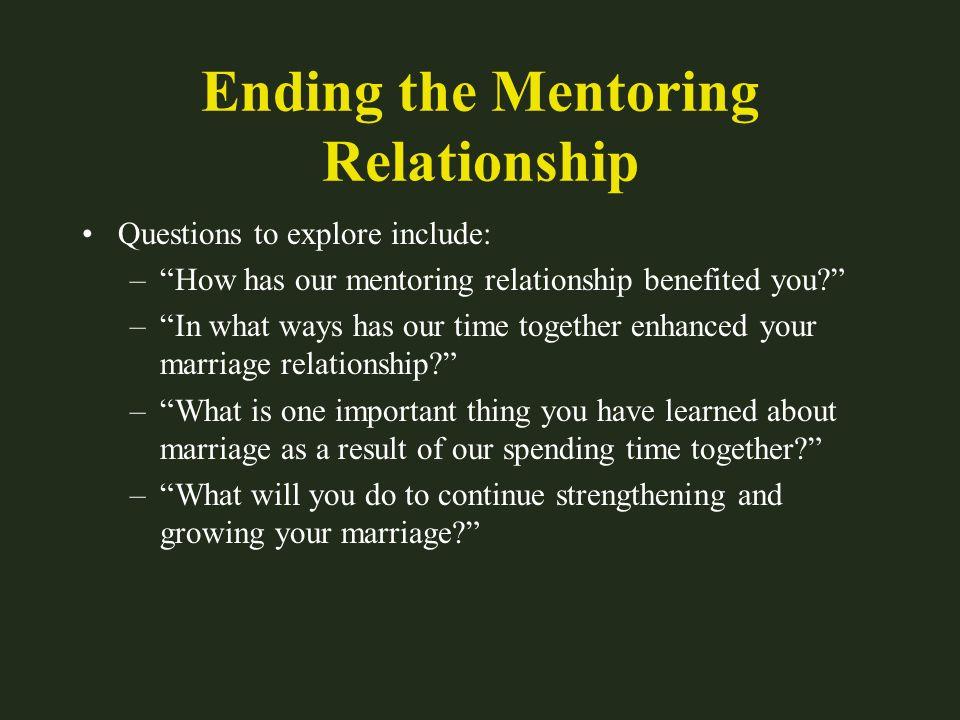 Ending the Mentoring Relationship